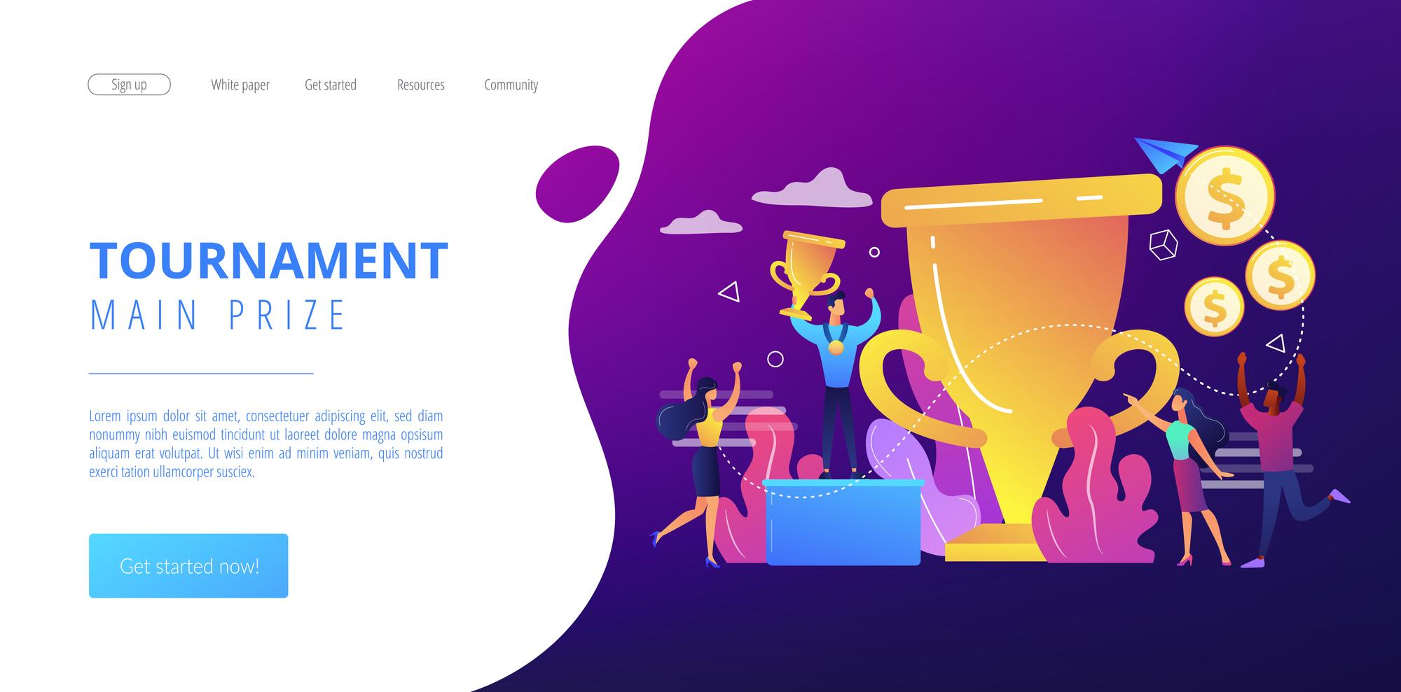 メインカラーである紫が全体の25%を占めるwebページ