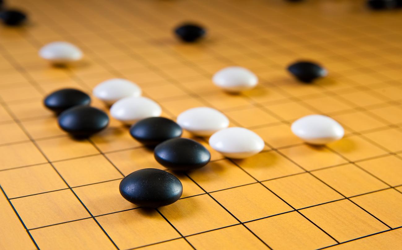 白と黒の碁盤